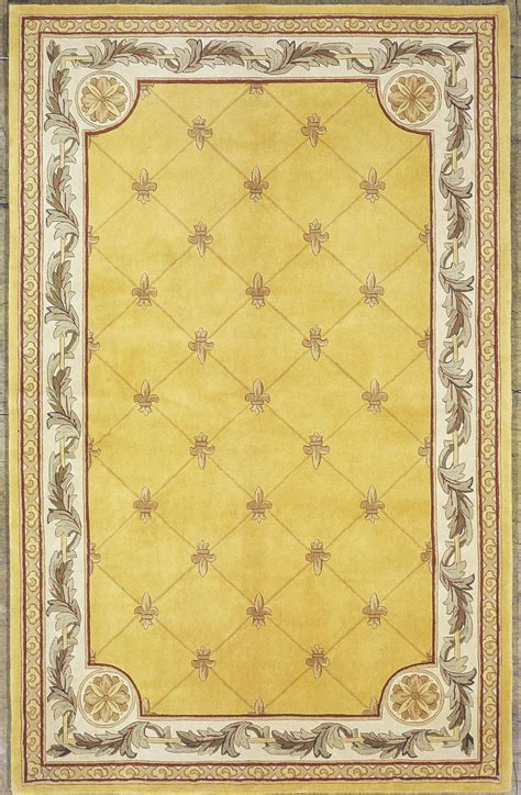 30 runner rug gold fleur de lis 120 quot x 30 quot runner rug from kas rugs coleman furniture