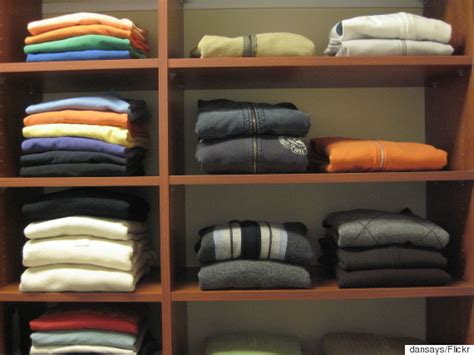 How To Store Shirts In Closet by How To Store Your Winter Clothing In The Season Huffpost