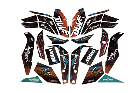 duke 125 dekor ktm duke 125 200 250 390 rokon sticker kit rok