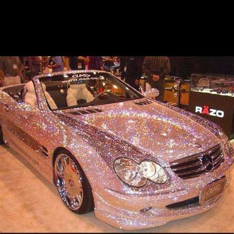 pink glitter car pink sparkle car pink cars and trucks