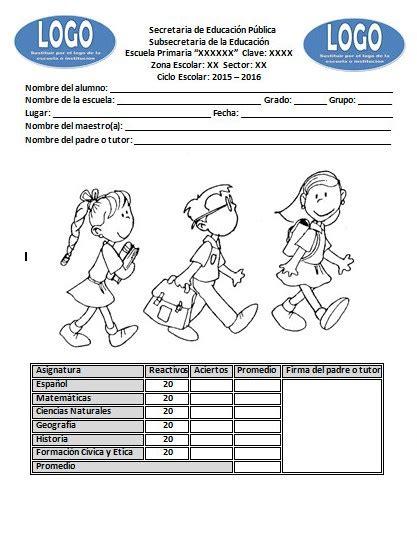 examen de primaria 2015 2016 examen de diagn 243 stico del sexto grado del ciclo escolar