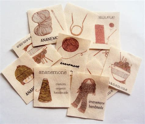 Knitting Labels Handmade - knitting and crochet labels custom knit labels on organic