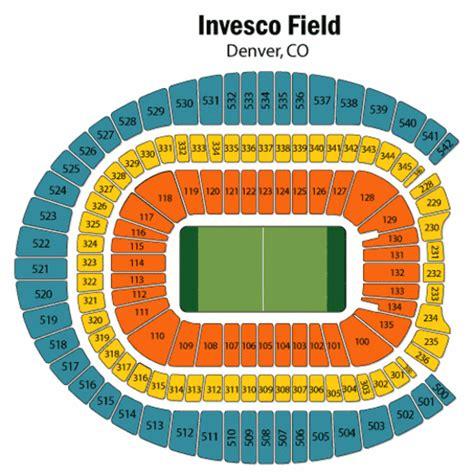 denver broncos stadium seating chart sports authority field seating chart sports authority