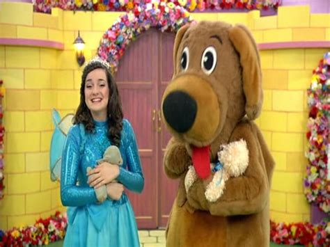 wags and fairy clare with a teddy bear wigglepedia