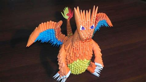 origami 3d dragon tutorial español 3d origami pokemon charizard dragon tutorial origami