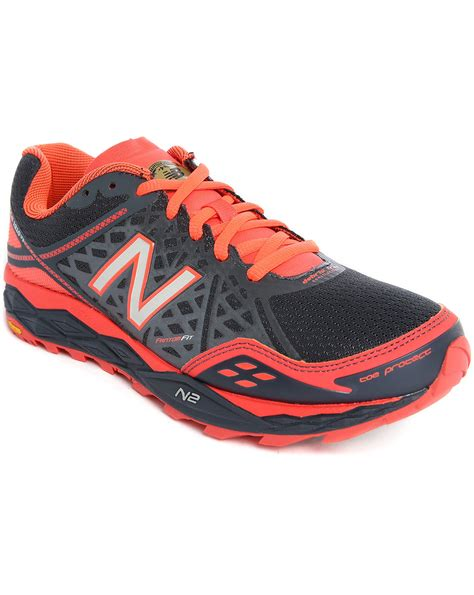 gray new balance sneakers new balance running 1210 grey orange sneakers in