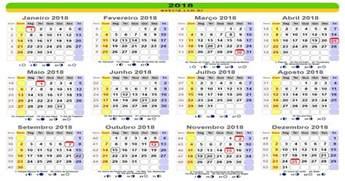 Calendario 2018 Feriados Nacionais Calend 2018 Feriados Nacionais Trends Freelook Info