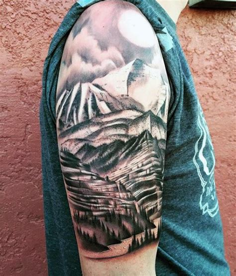 tattoo sleave designs 40 mountain designs for climb the highest peak