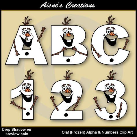 msn lettere olaf frozen alphabet letters numbers clip graphics