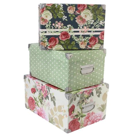 tri coastal design set of 3 nesting storage box steamer