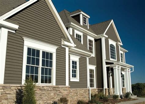 exterior grey georgia pacific vinyl siding color design ideas with tile roof and gable roof georgia pacific vinyl siding bbqpr com