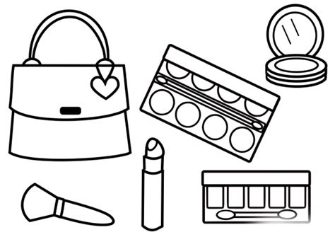 makeup coloring pages cosmetic coloring pages to and print for free