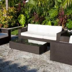 Outdoor Patio Furniture Images Source Outdoor King Collection All Weather Wicker Outdoor Conversation Set Modern Patio