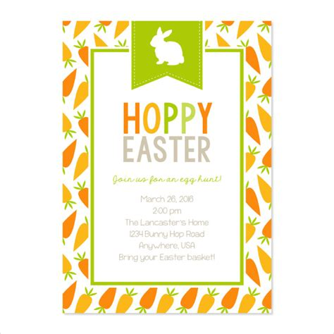 easter invitation template 32 easter invitation templates free sle exle