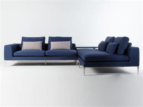 canape d angle bleu canap 233 d angle modulable tissu bleu 4 places avec pieds m 233 tal coussins yohanna gauche