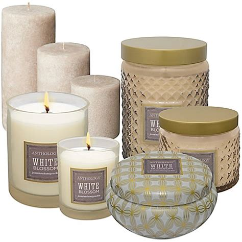 bed bath and beyond candles anthology white blossom candles bed bath beyond