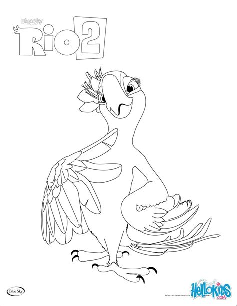 rio coloring pages games rio 2 perla coloring pages hellokids com