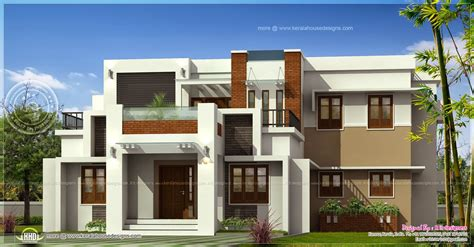 2 Bedroom House Plans by Contemporary Flat Roof House