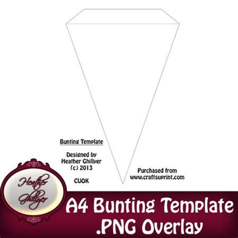 card bunting template a4 bunting template cup440293 1885 craftsuprint