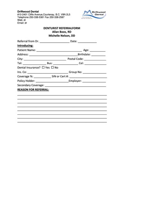 dental referral form template top 19 dental referral form templates free to in