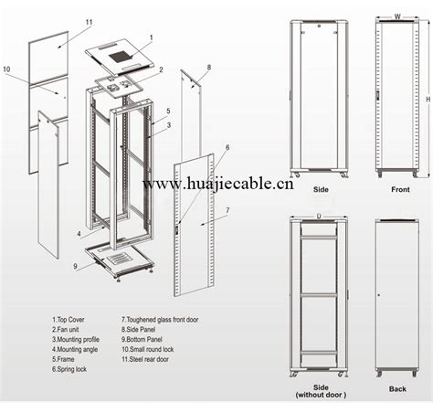 Rack Cabinet Dimensions by 19 Inch Rack Dimensions 42u Network Cabinet Buy Network