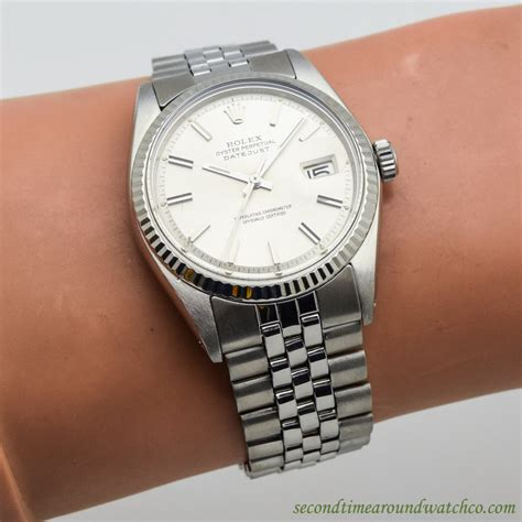Rolex 152 Silver White second time around vintage 1972 s vintage rolex datejust 1601 14k white gold