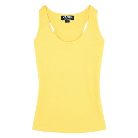 Yellow Top 1 vancl solid color basic tank top yellow sku 47022 wholesale vancl solid color basic tank top