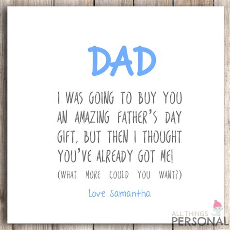 personalised fathers day card s day cheeky joke rude 3 163 1 99 picclick uk