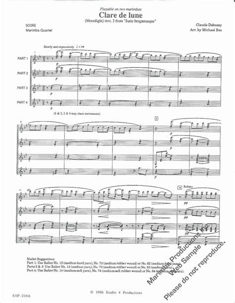debussy clair de lune mp debussy claude boo m clair de lune for marimba quartet