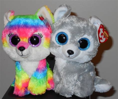 beanie boos ty beanie boos set river warrior the 6 quot wolves gwl exclusives 2016 new ebay