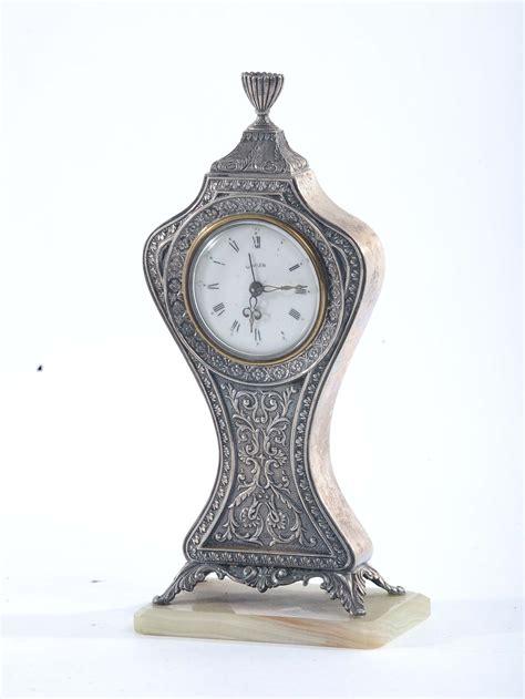 orologio da scrivania orologio da scrivania in argento antiquariato e dipinti