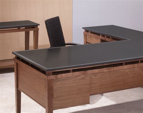 office desk with return l shaped executive desk walnut desk and attached return