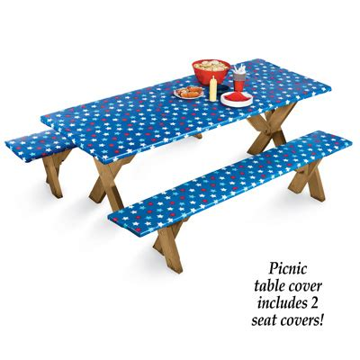 picnic table covers with elastic 4th of july elastic picnic table cover from