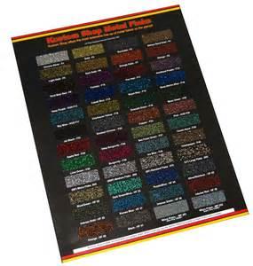 custom shop metal flake chip color chart auto car paint