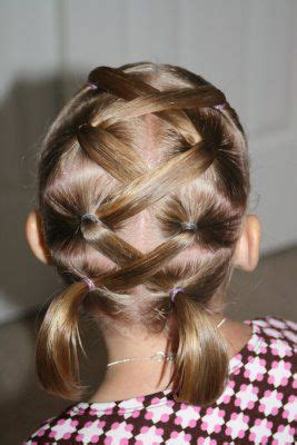 hair long enough for a ponytail lattice ponytails great for kids hair but as soon as my