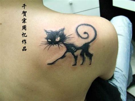 cat tattoo on shoulder photos 25 awesome cat tattoos sick chirpse