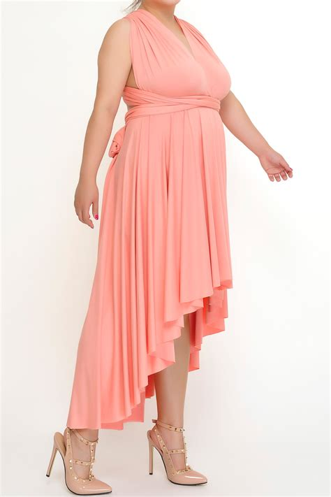 low light corals for sale high low light coral convertible dress plus size from xxl