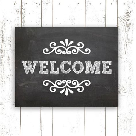 chalkboard print printables pinterest chalkboard art print 11x14 inch printable welcome sign