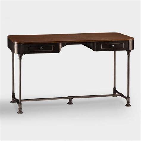 Wood And Metal Industrial Style Desk World Market World Market Desks