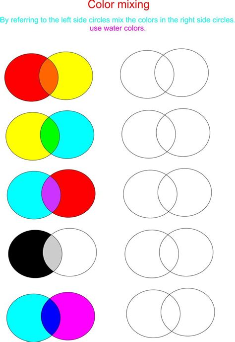 color mixing color mixing worksheet free worksheets library