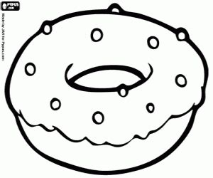 coffee and donuts coloring page coloring pages