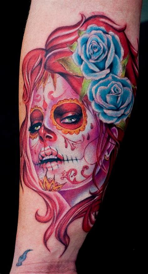 living dead tattoo designs sugar skull tattoos for day of the dead