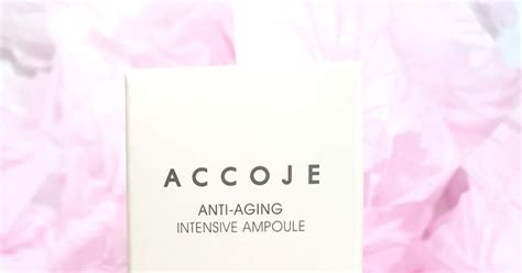 review accoje anti aging intensive ampoule  journey