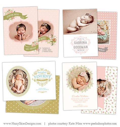wedding announcement templates for photographers birth announcement templates bundled up