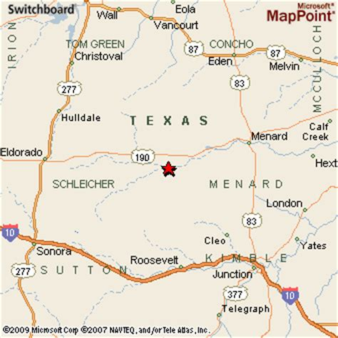 fort texas map fort mckavett texas