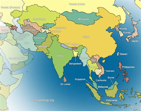 map of modern asia asia travel blogs photos and forum