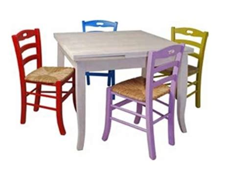 sedie vintage colorate w 388 tavolo cerato bianco w 388 s sedie