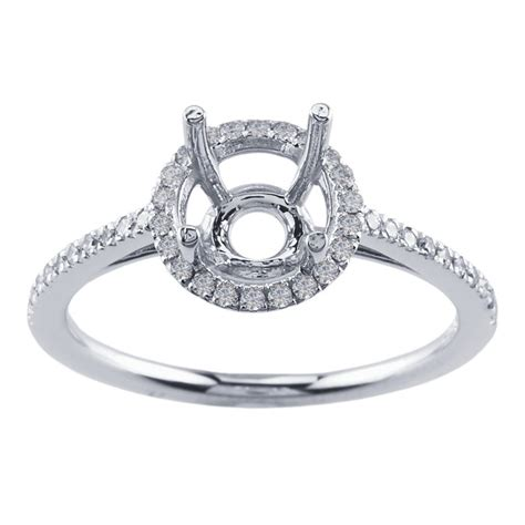 14k white gold 1 ct semi mount ring mounting
