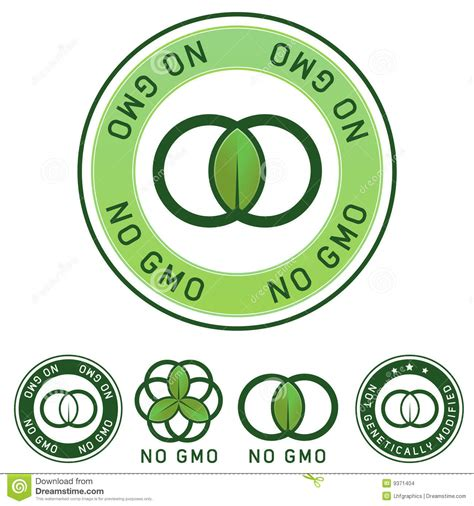 genetically modified foods label not genetically modified no gmo food label stock vector