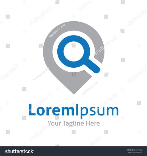 logo search vector search web magnifying glass locator stock vector 215906392